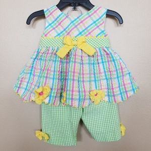 Rare Editions baby girl 2 piece outfit